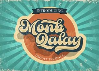 Monk Qalay Bold Script Font
