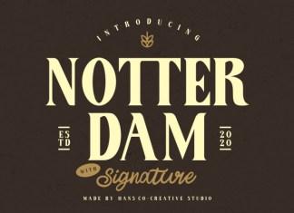 Notter Dam Font Duo