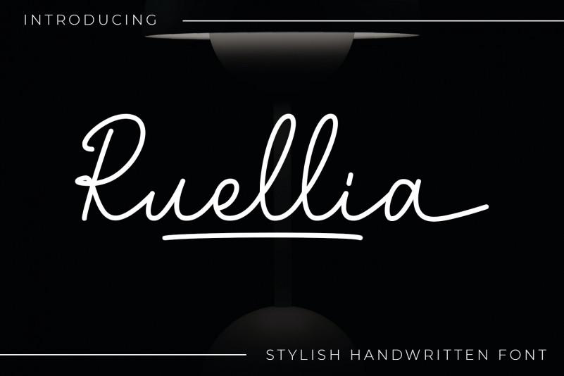 Ruellia Handwritten Font