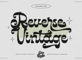 Reverse Vintage Display Font