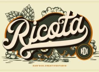 Ricota Bold Script Font