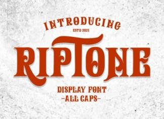 Riptone Display Font