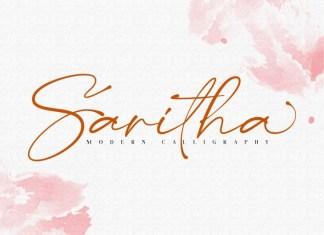 Saritha Handwritten Font