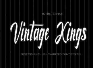 Vintage Kings Script Font