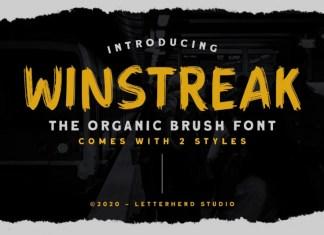 Winstreak Brush Font