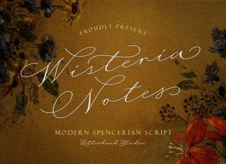 Wisteria Notes Calligraphy Font