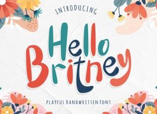 Hello Britney Script Font