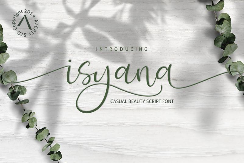 Isyana Calligraphy Font