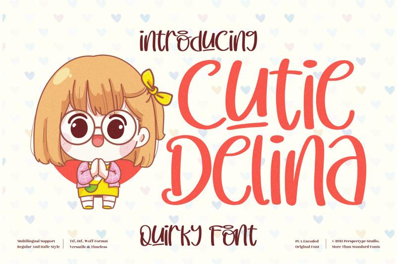Cutie Delina Display Font
