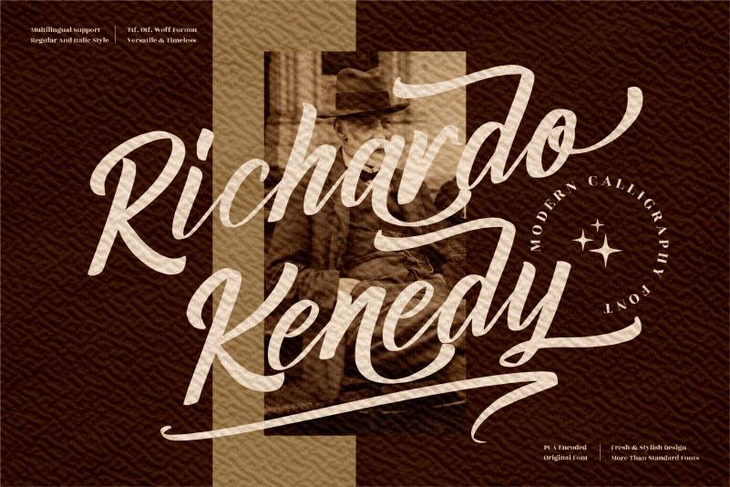 Richardo Kenedy Calligraphy Font