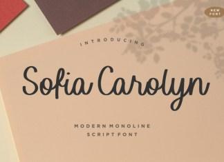 Sofia Carolyn Script Font