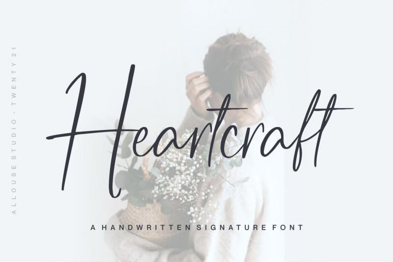 Heartcraft Handwritten Font