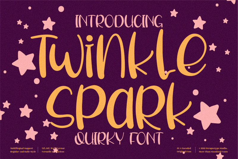 Twinkle Spark Script Font