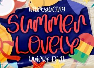 Summer Lovely Script Font