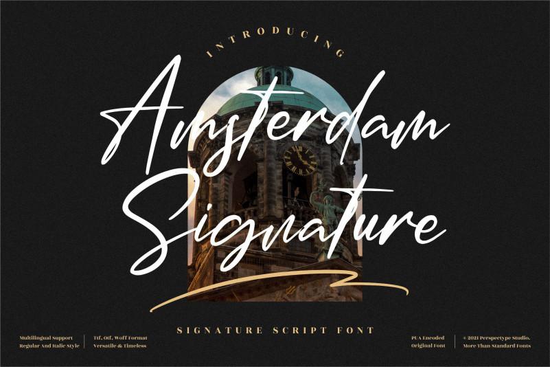 Amsterdam Signature Script Typeface
