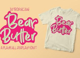 Bear Butter Display Font