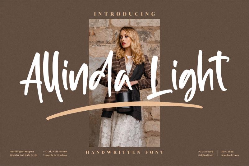 Allinda Light Brush Font
