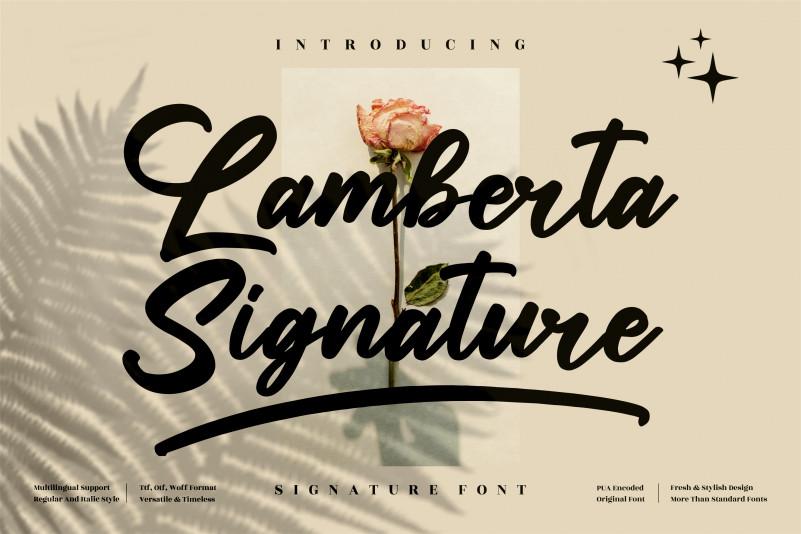 Lamberta Signature Script Font