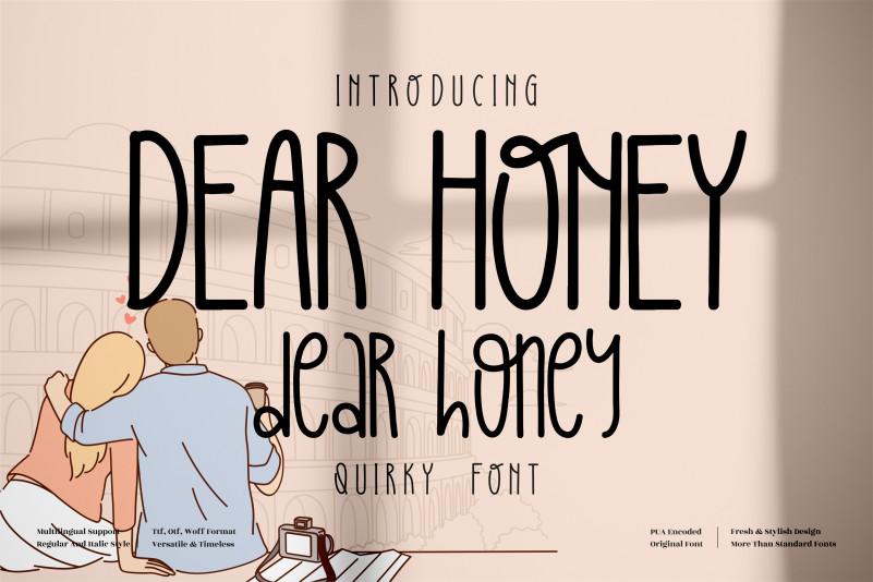 DEAR HONEY Display Font