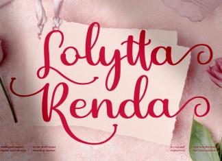 Lolytta Renda Calligraphy Font