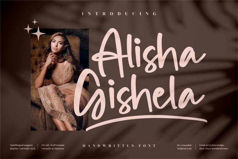 Alisha Gishela Script Font