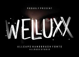 Welluxx Brush Font
