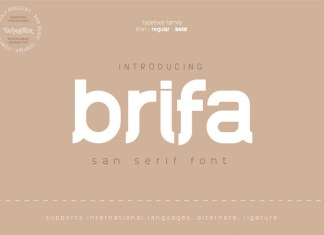 Brifa Sans Serif Font