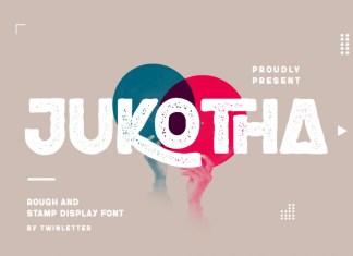 Jukotha Display Font