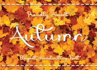 Autumn Calligraphy Font