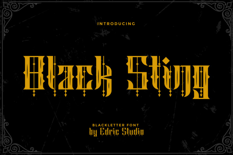 Black Sting Blackletter Font