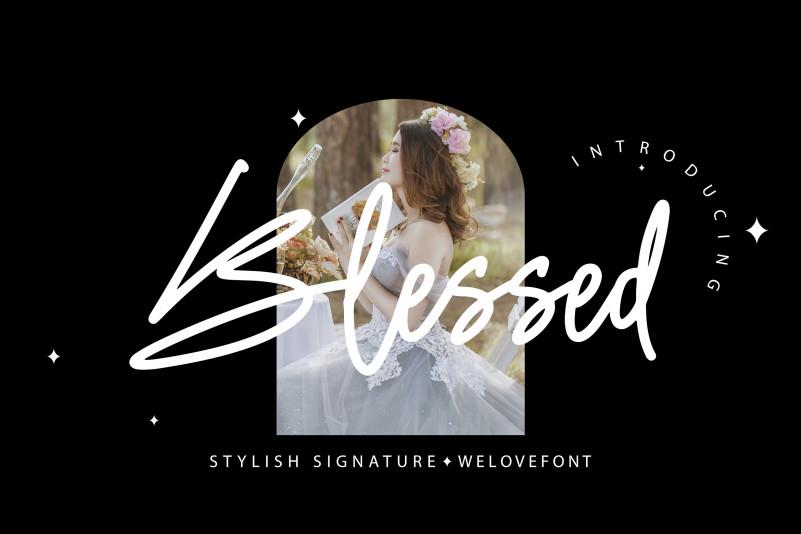 Blessed Handwritten Font