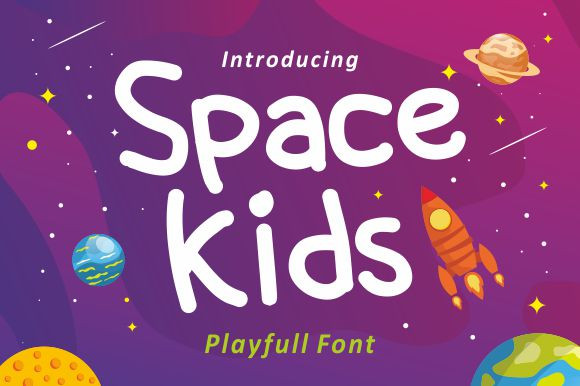 Space Kids Display Font