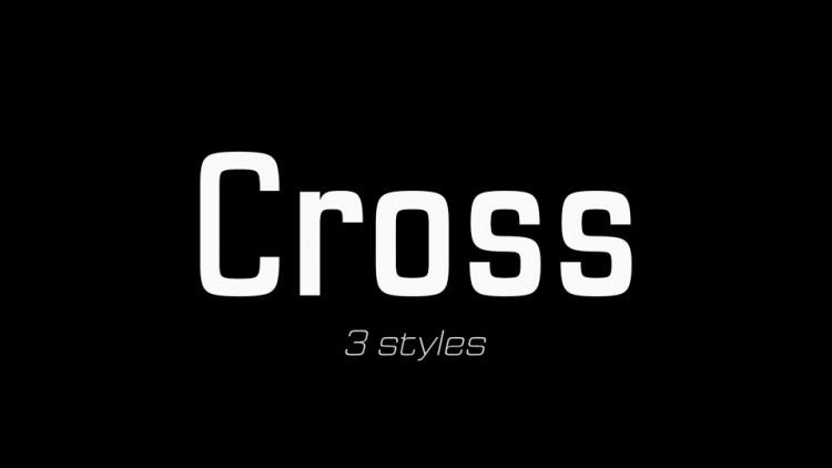 Cross Sans Serif Font