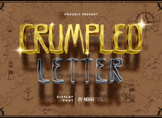 Crumpled Letter Display Font