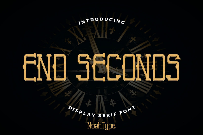 End Seconds Display Font
