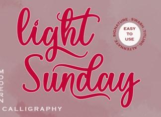 Light Sunday Script Font