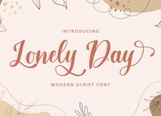 Lonely Day Calligraphy Font