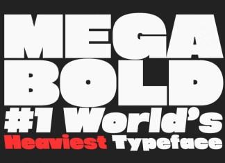 Megabold: World\'s Heaviest Display Font
