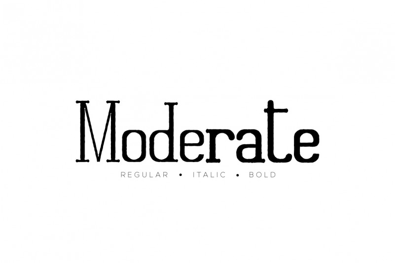 Moderate Serif Font