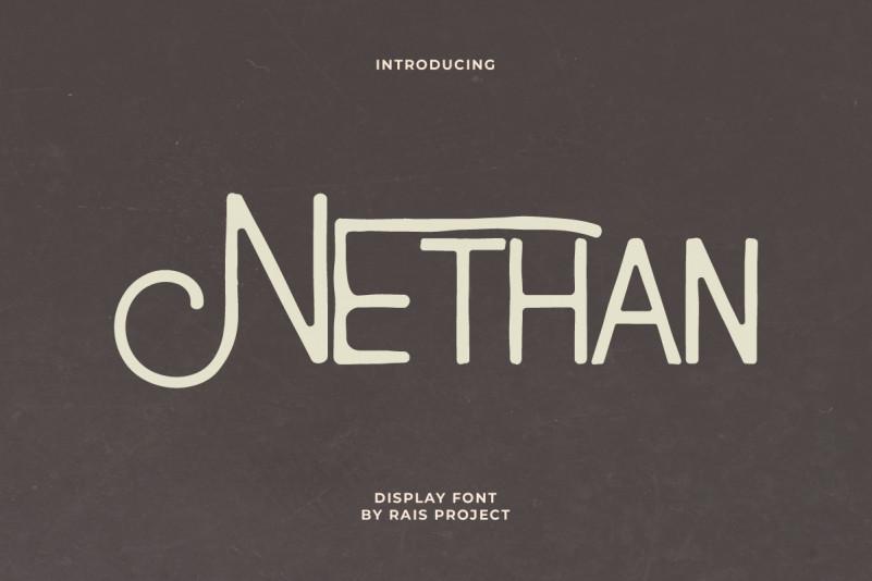 Nethan Display Font