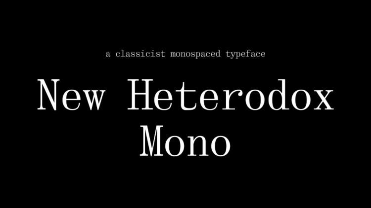 New Heterodox Mono
