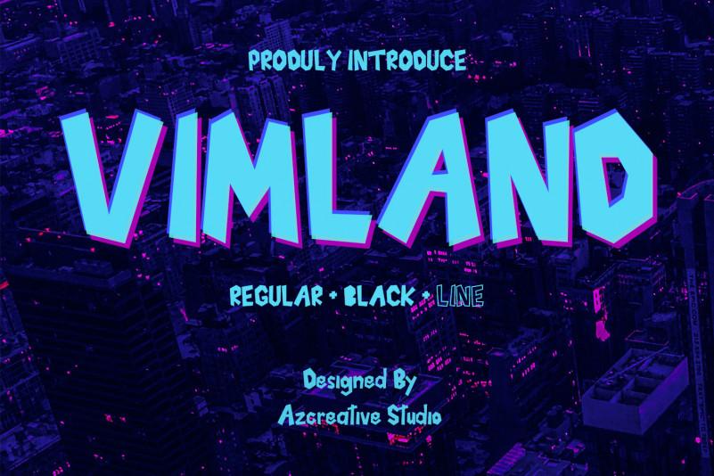 Vimland Display Font