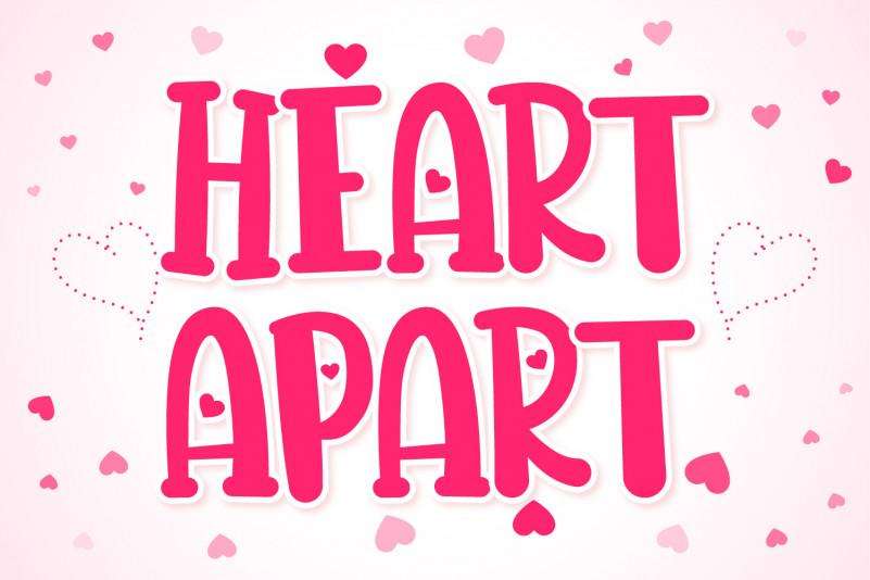 Heart Apart Display Font