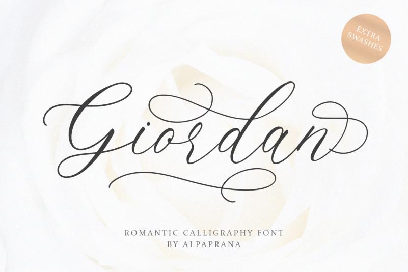 Giordan Calligraphy Font