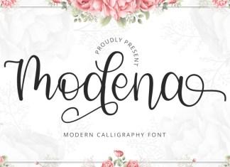 Modena Calligraphy Font