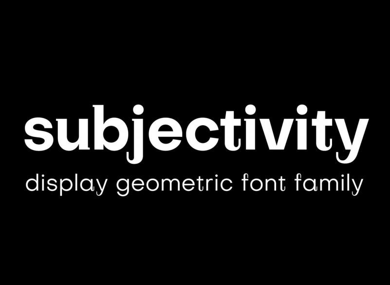 Subjectivity Font Family