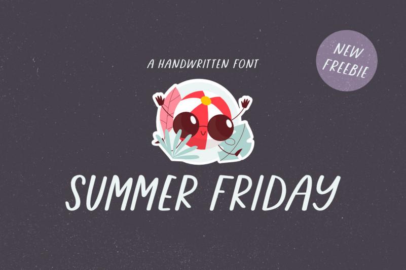 Summer Friday Display Font