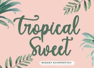 Tropical Sweet Script Font