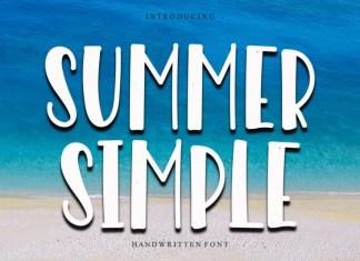 Summer Simple Display Font