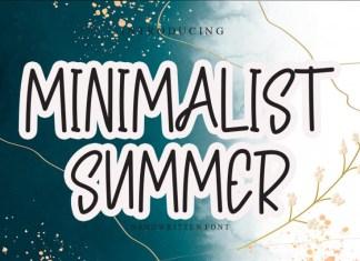 Minimalist Summer Display Font